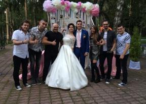 На свадьбе Дениса и Иванны